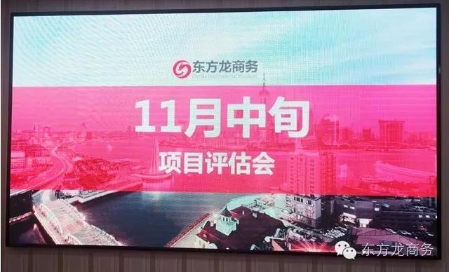 东方龙商务举行11月份中旬投资选址项目评估会
