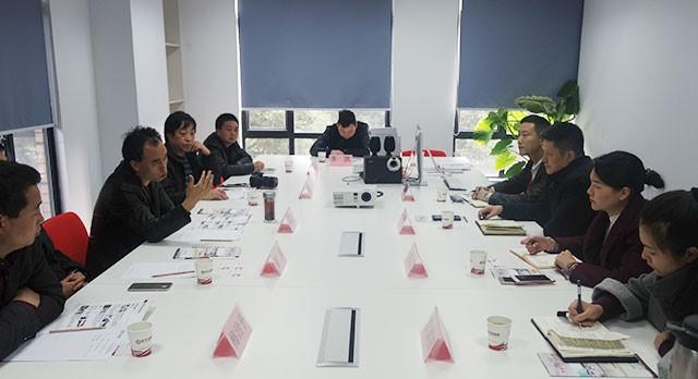 陕西商洛市洛南县领导考察东方龙商务平台