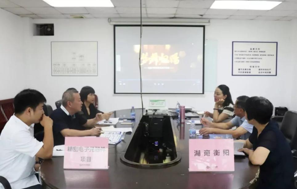 深圳分公司陪同政府园区对接考察精密电子元器件投资选址项目方,加快推进项目落地进程