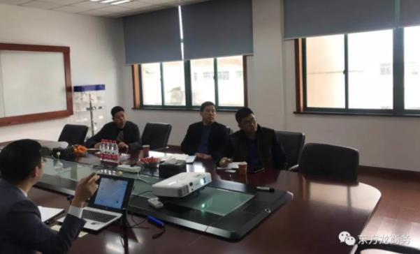 陪同政府园区赴显示器件新材料投资选址项目方对接考察,双方通过了解推进项目合作