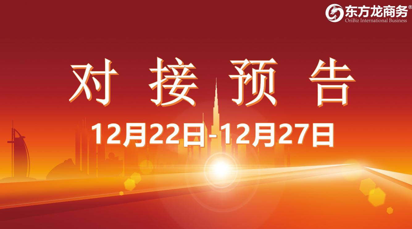 【项目预告】12月22日至27日,11个高质量项目将在项目方企业与全国政府精准对接 !