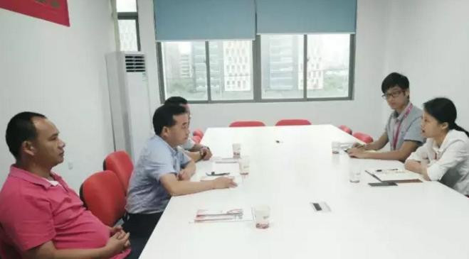 广西梧州市长洲区商务局领导带队考察东方龙商务深圳分公司,交流政府委托招商合作