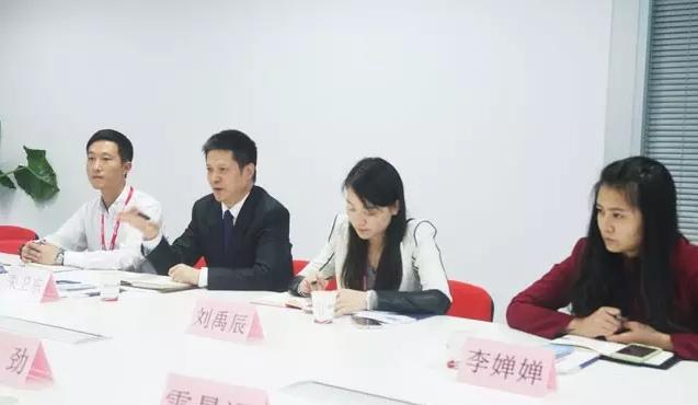 榆林市横山区政府区长带队考察东方龙商务平台,交流委托招商引资战略合作