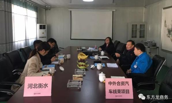 北京分公司陪同政府园区赴中外合资汽车线束投资选址项目方对接考察,达成进一步合作意向